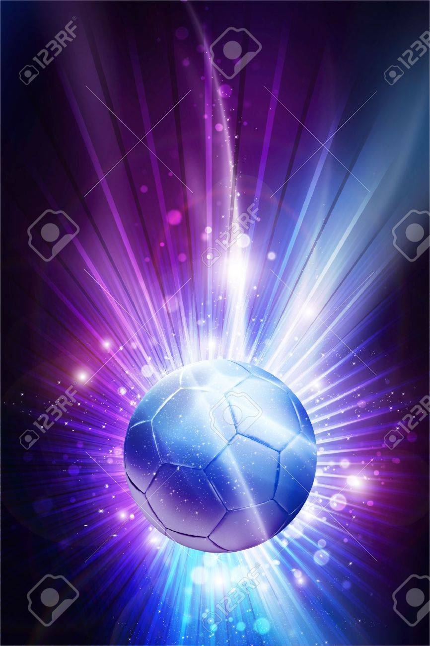 Soccer All Stars Cool Glowing Stars Soccer Theme Background