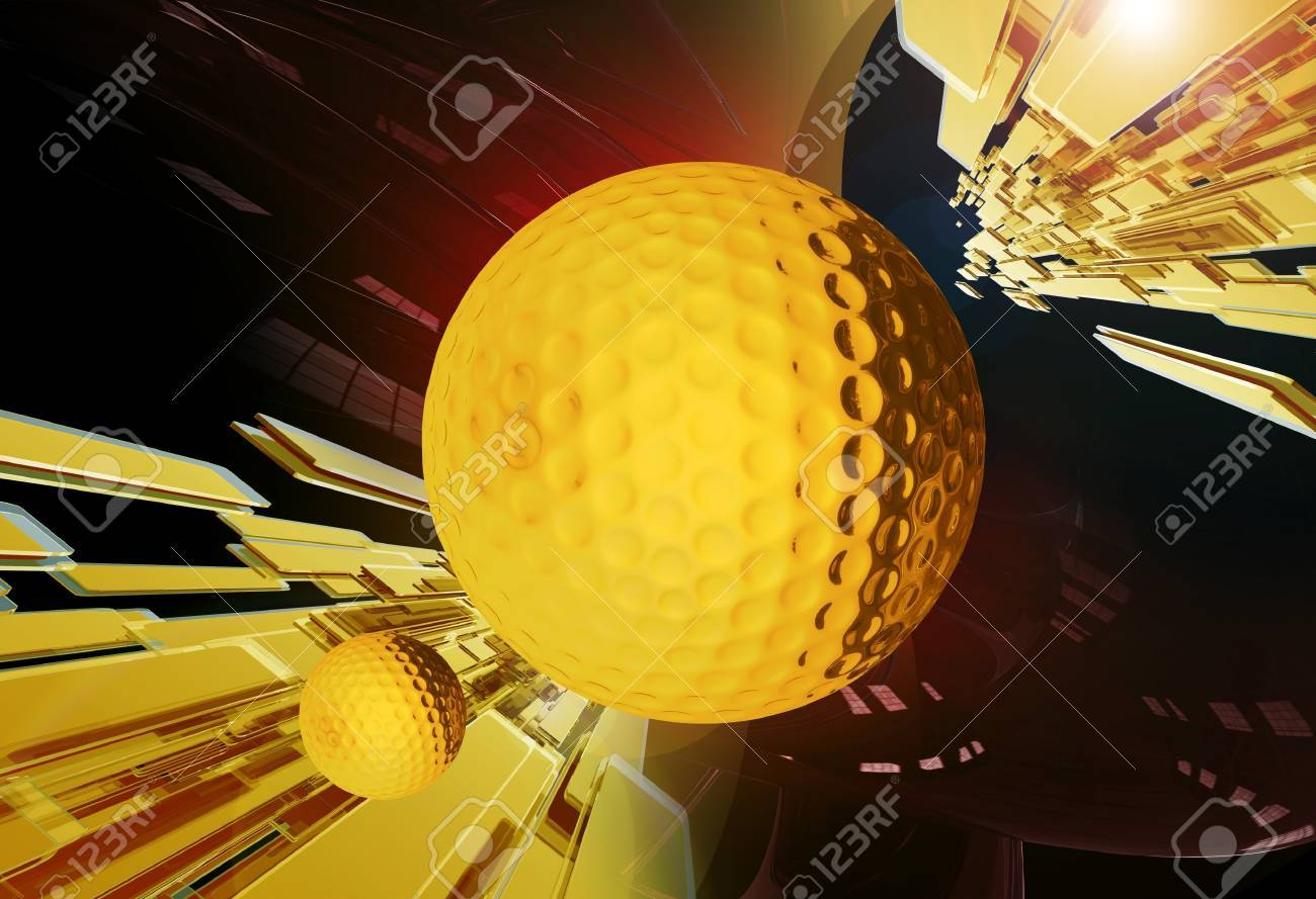 Golf Tournament Shiny Golden Background. Perfect For Golf Tournaments and Other Golf Related Challenges. Sport Illustrations Collection Stock Illustration - 12788367