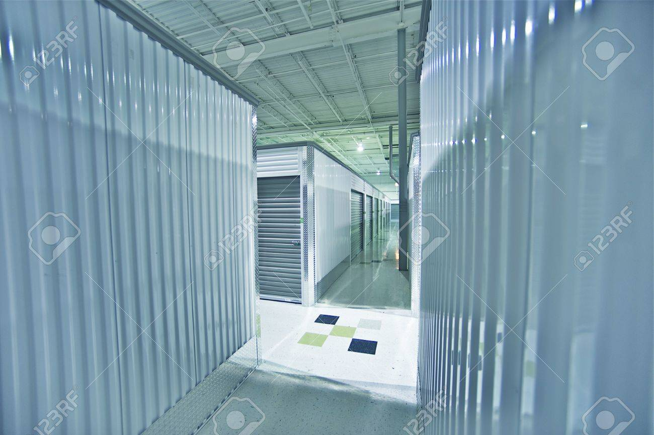 Storage Units. Storage Facility Interior. Stock Photo - 12787711