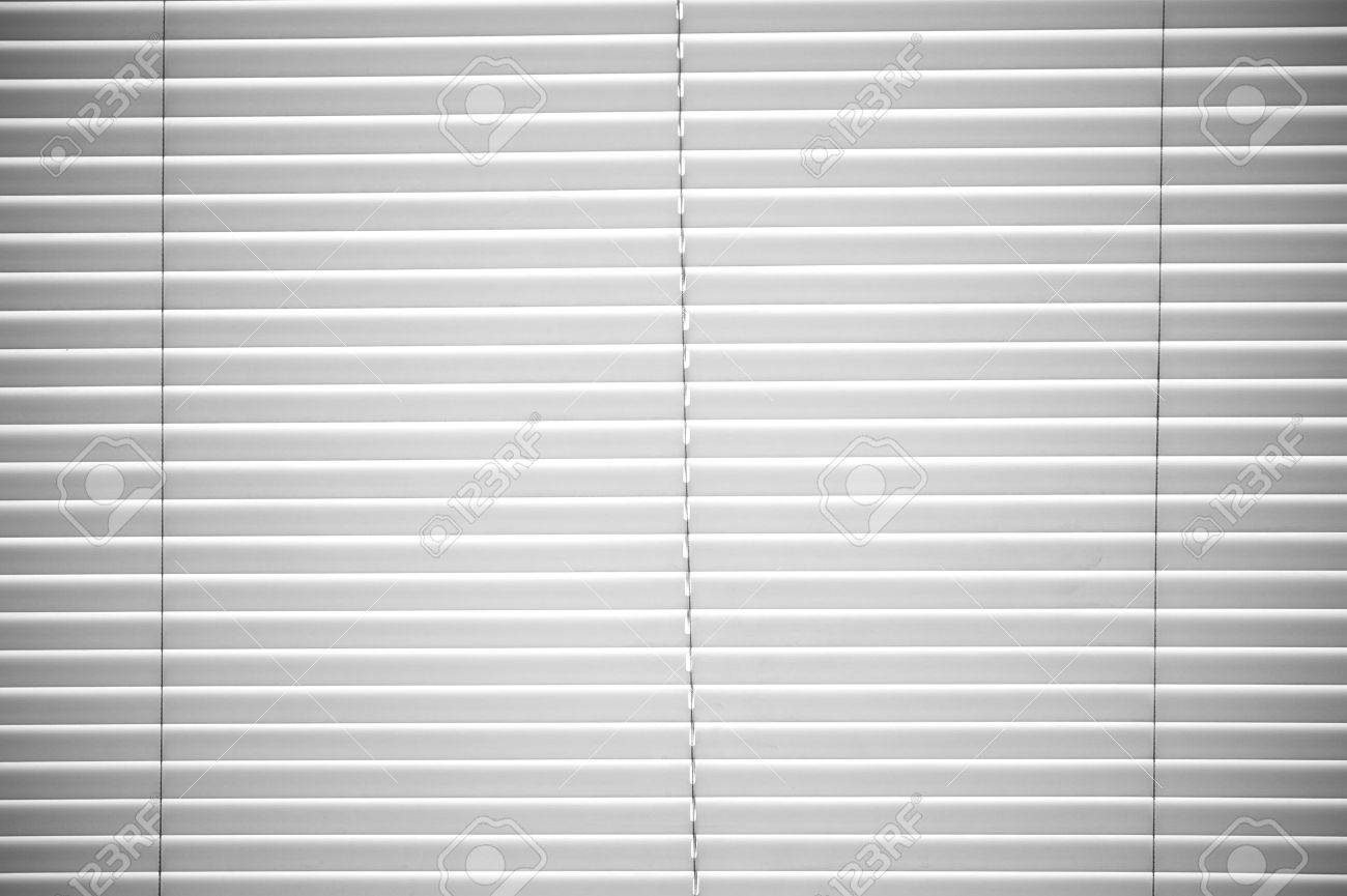 White Plastic Horizontal Window Blinds Background Stock Photo 12788314