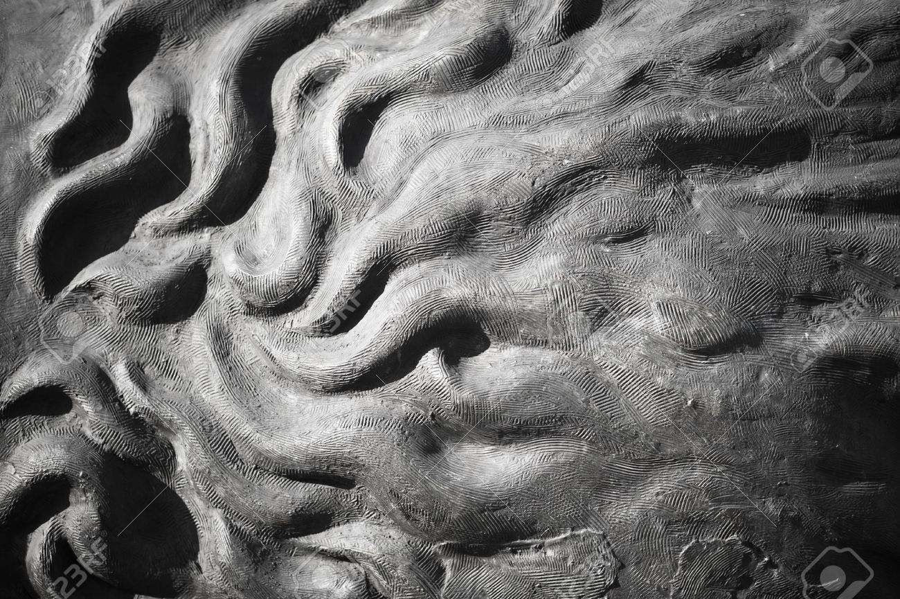 Concrete Sculpture Background Abstract Wavy Art Form - Horizontal ...
