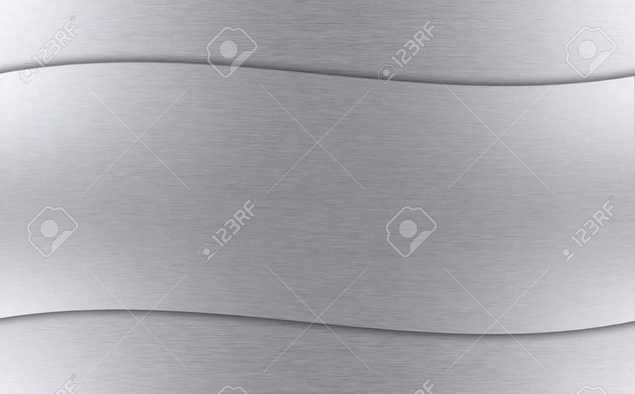 Wavy Metal Background - Horizontal Shiny-Metallic Material. Stock Photo - 13179384
