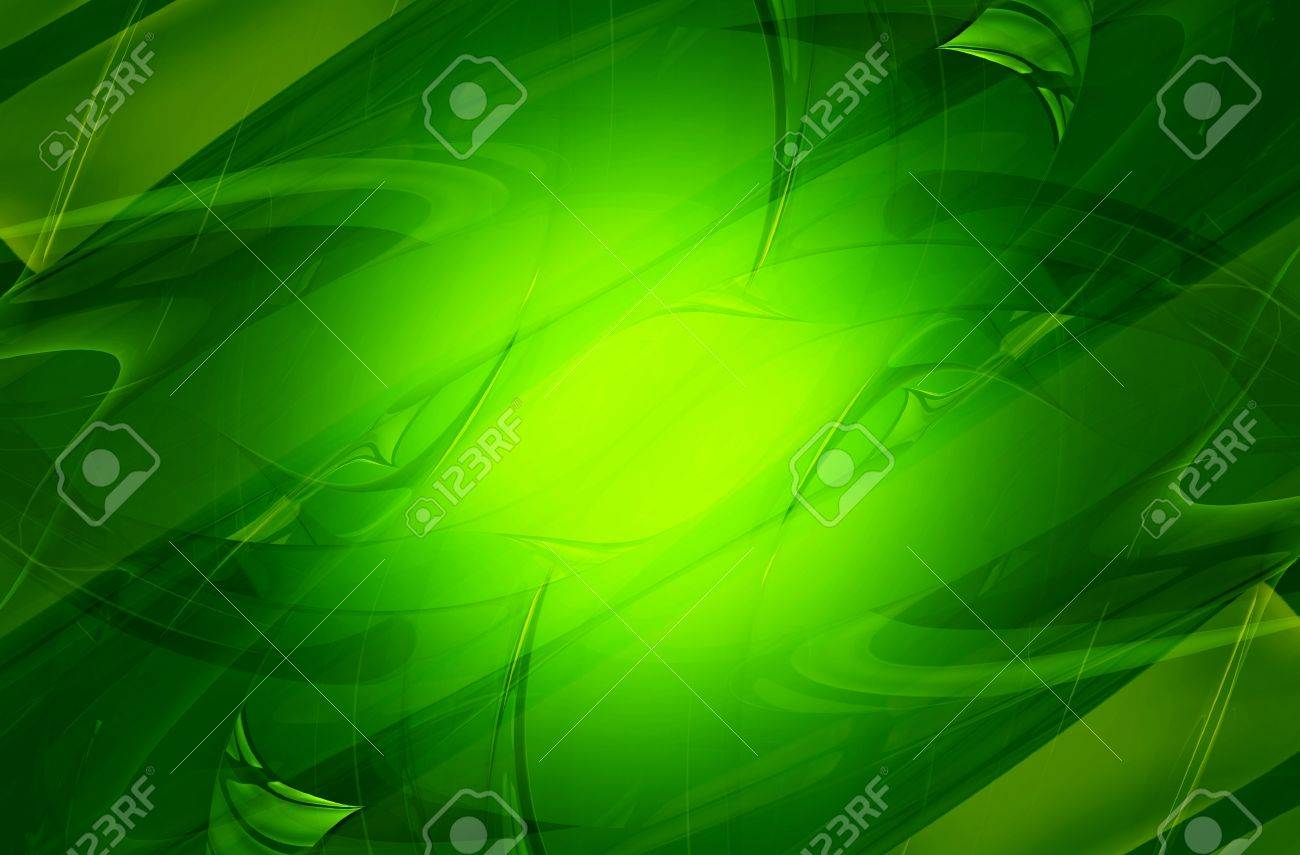 Cool Green Glassy Elements Hintergrund Horizontale 3d Rendered