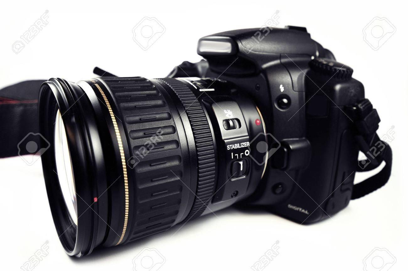 Digital SLR Camera / DSLR Professional Camera With Zoom Lens ...