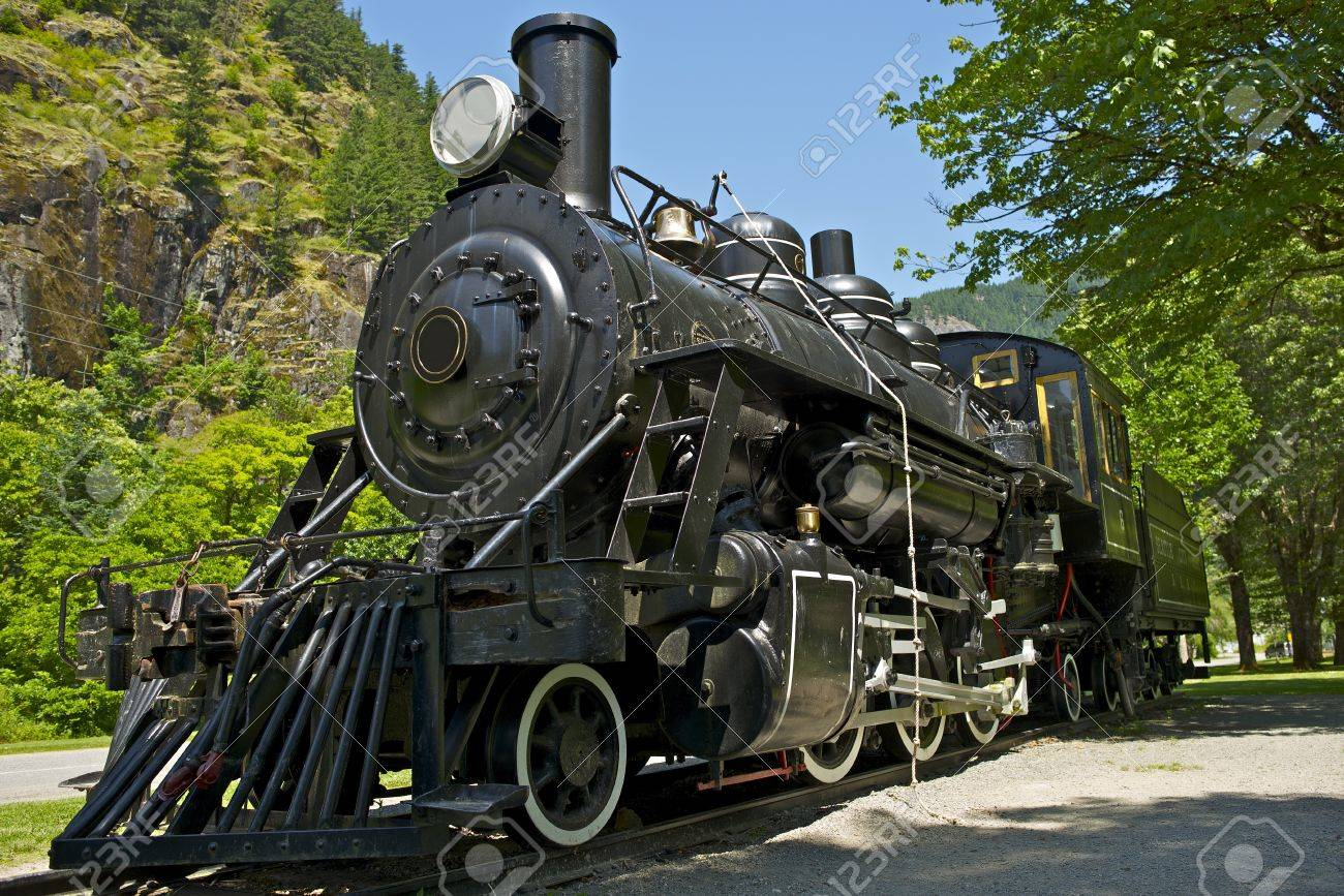 Old Western Steam Locomotive - Historical Railroad Locomotive Exposition. Washington State, USA. Transportation Photo Collection. Stock Photo - 15022914