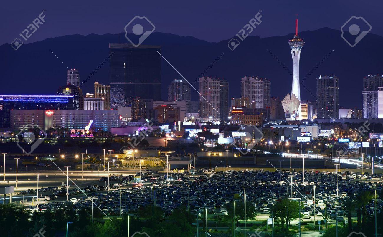 Downtown Las Vegas, Nevada, USA. Vegas at NIght. Sleepless City. American Cities Photo Collection Stock Photo - 15543995