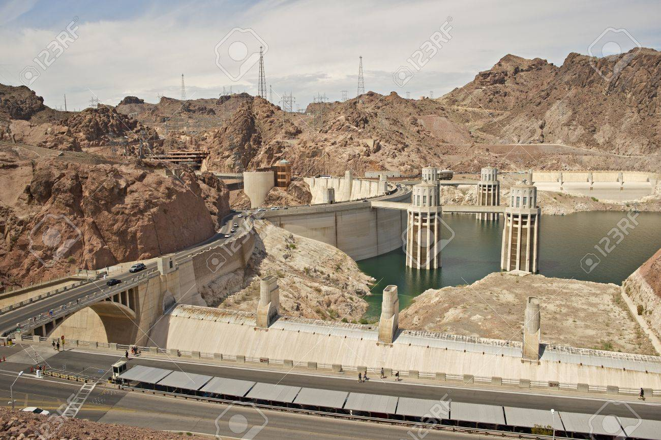 Hoover Dam - Previously Known as Boulder Dam, is a Concrete Arch-Gravity