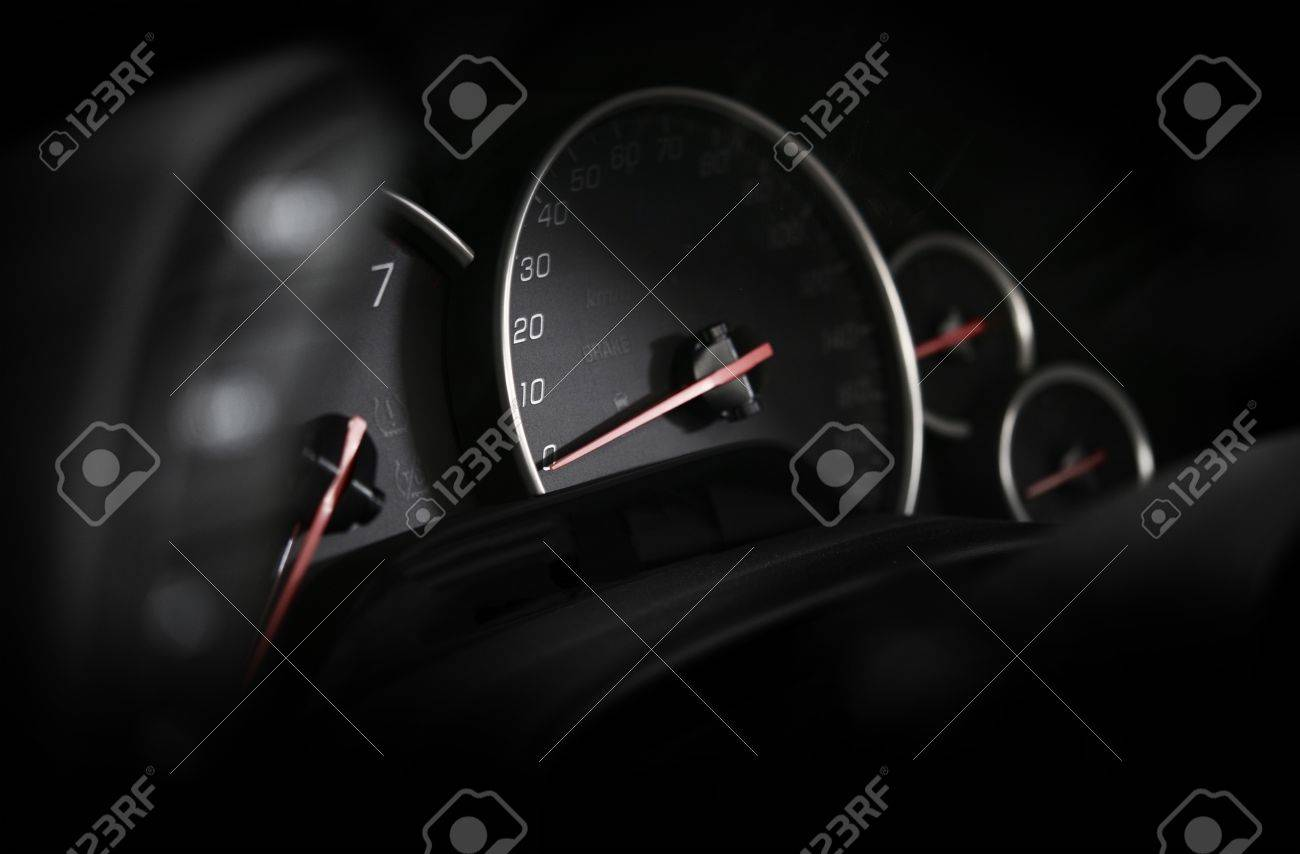 Car Dashboard Vehicle Instruments Speedometer In The Dark - Cool car dashboards