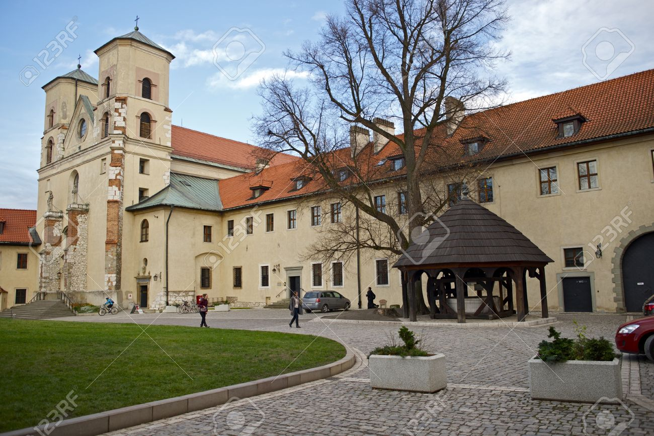 Abbey in Tyniec, Poland. The Benedictine Abbey Built Centuries Ago. Polish Historical Place. Famous Places Photo Collection. Stock Photo - 17025386
