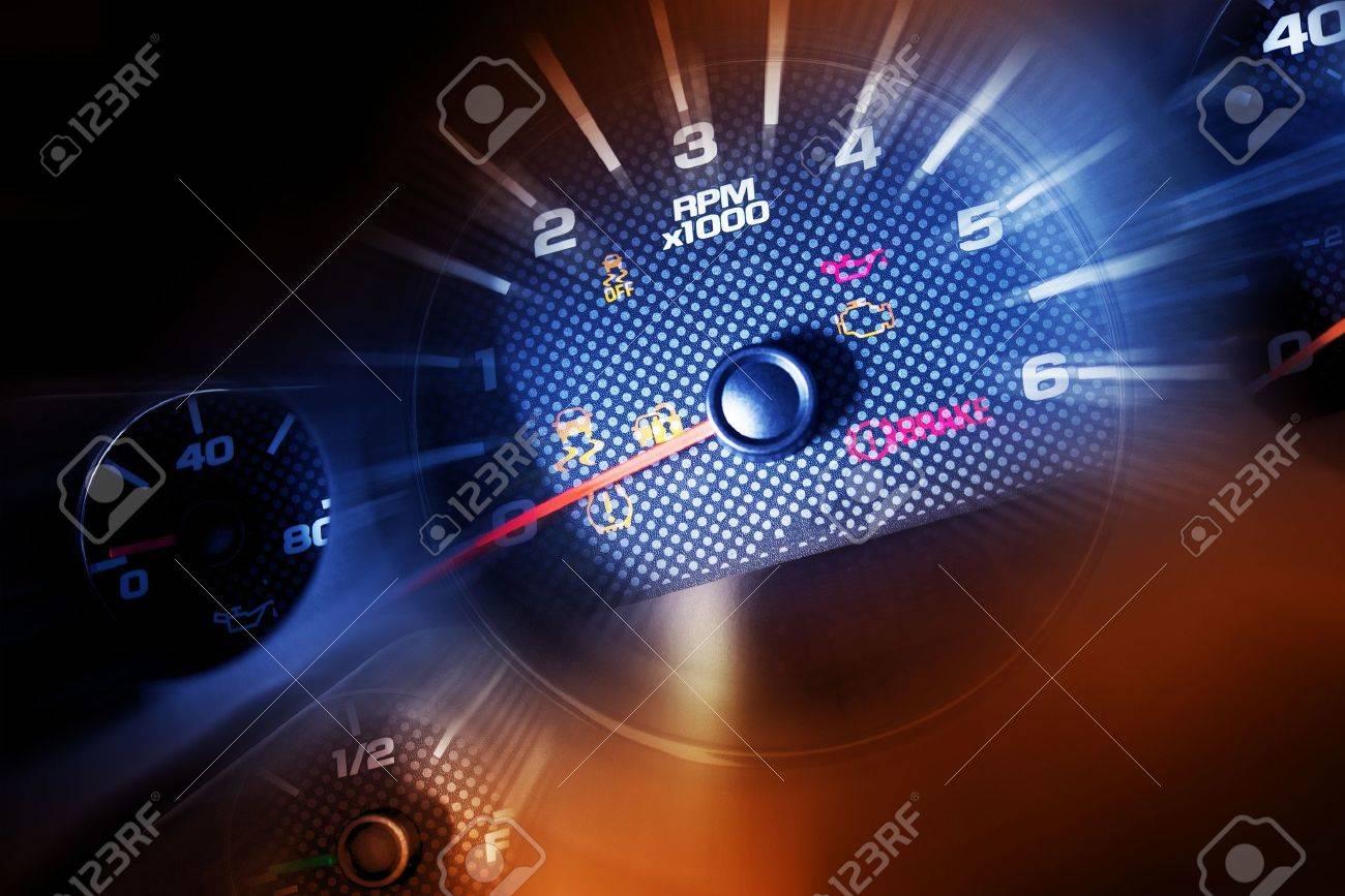 Sport Car Dash Dials Rpm Oil Meter Speedometer And Gasoline