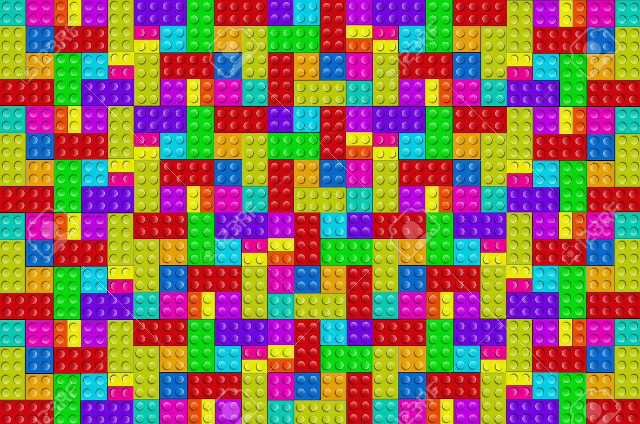 Plastic Blocks Background - Toys And Fun Background. Colorful ...