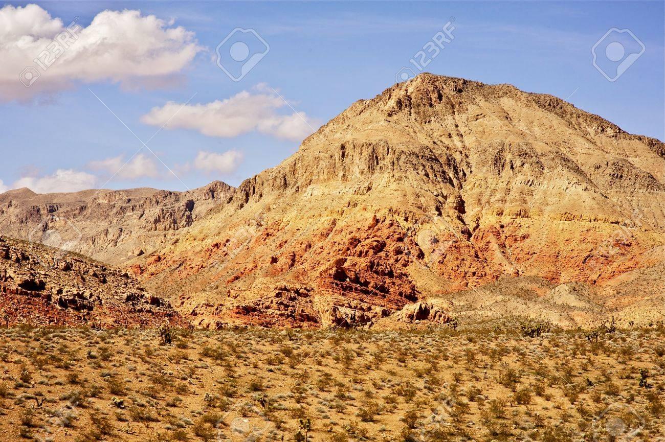 nevada raw desert landscape sandy hills and desert plants nevada