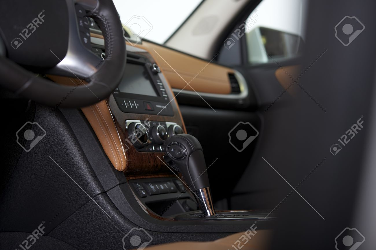 Modern Car Cockpit. Car Interior Design With Automatic Gear Box ... | {Auto cockpit 31}