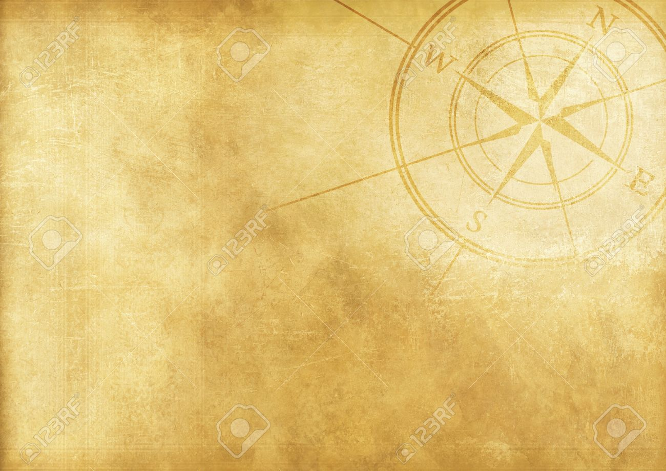 vintage journey background with compass rose aged paper background