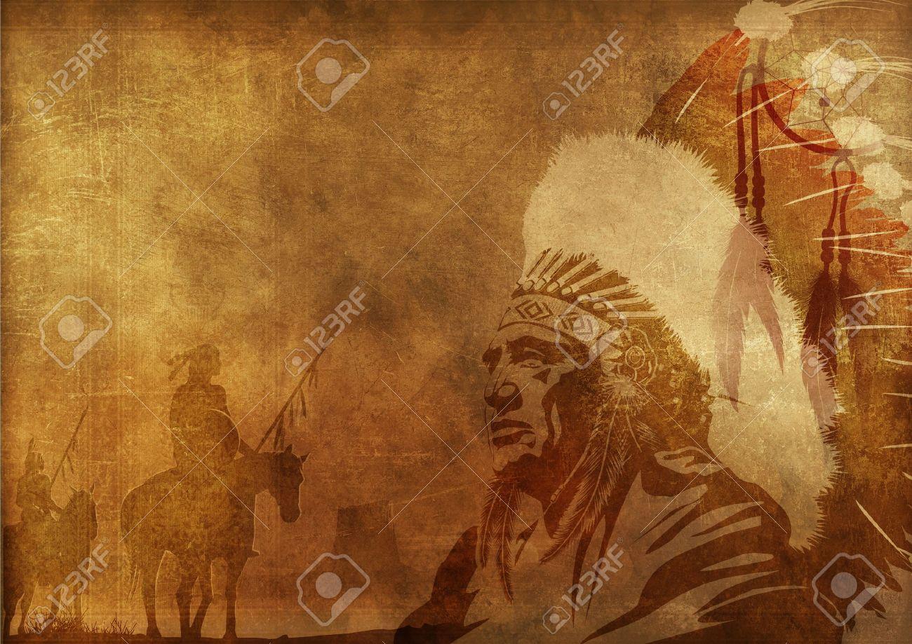 Native American Culture Background. Native American Chief ...