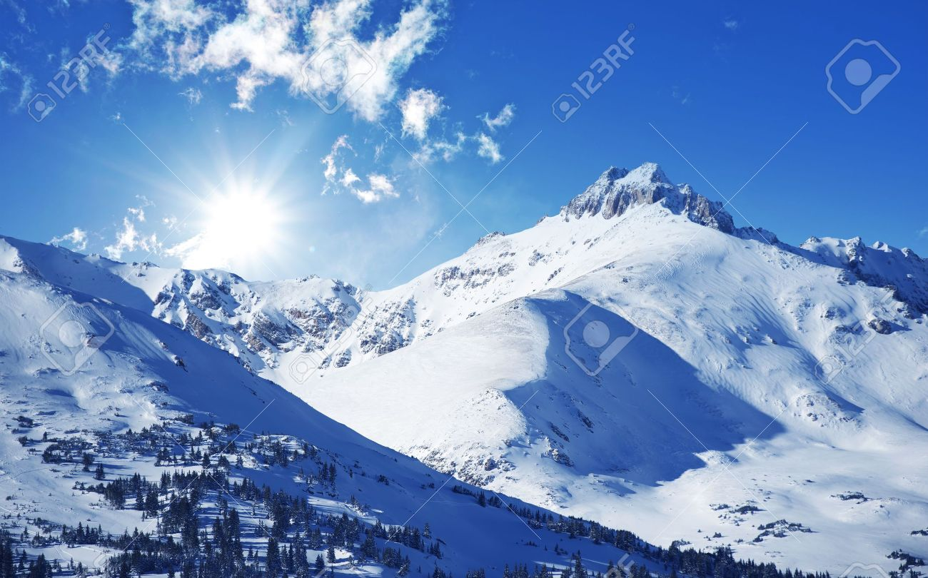 Winter Mountains Sunny Winter Day In Colorado United States - United states mountains