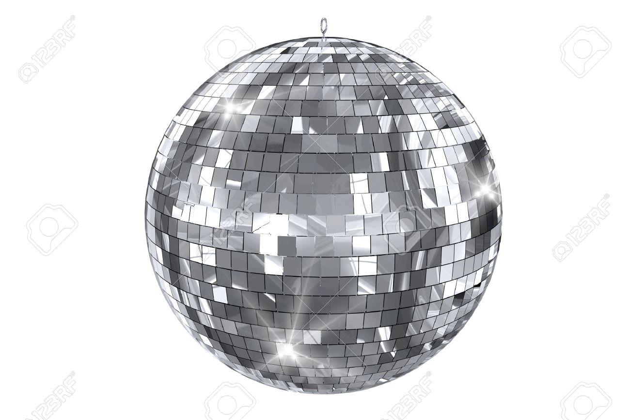 disco bal geïsoleerd op wit elegant shiny disco ball 3d illustratie