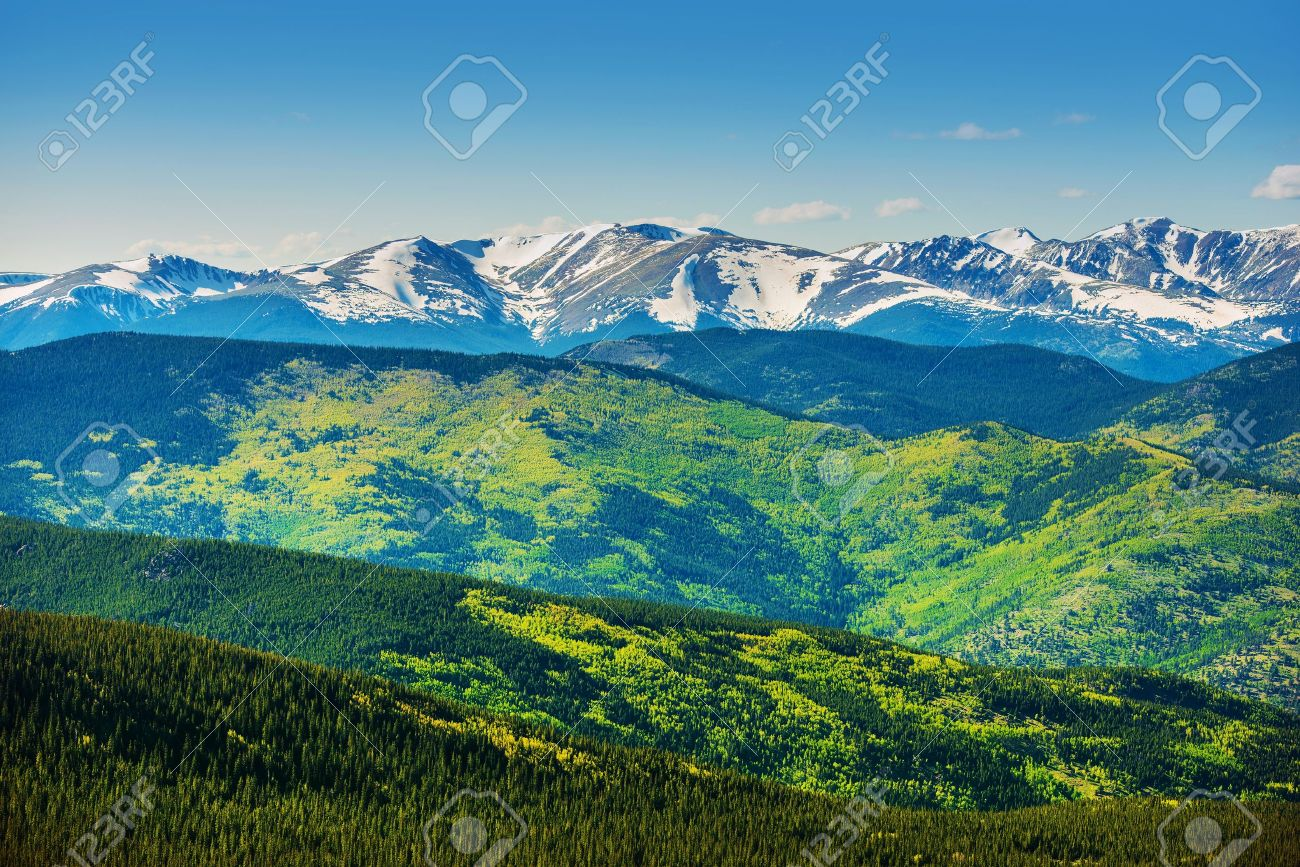Scenic Mountains Panorama Colorado Rocky Mountain Range In The - Mountain ranges of the united states