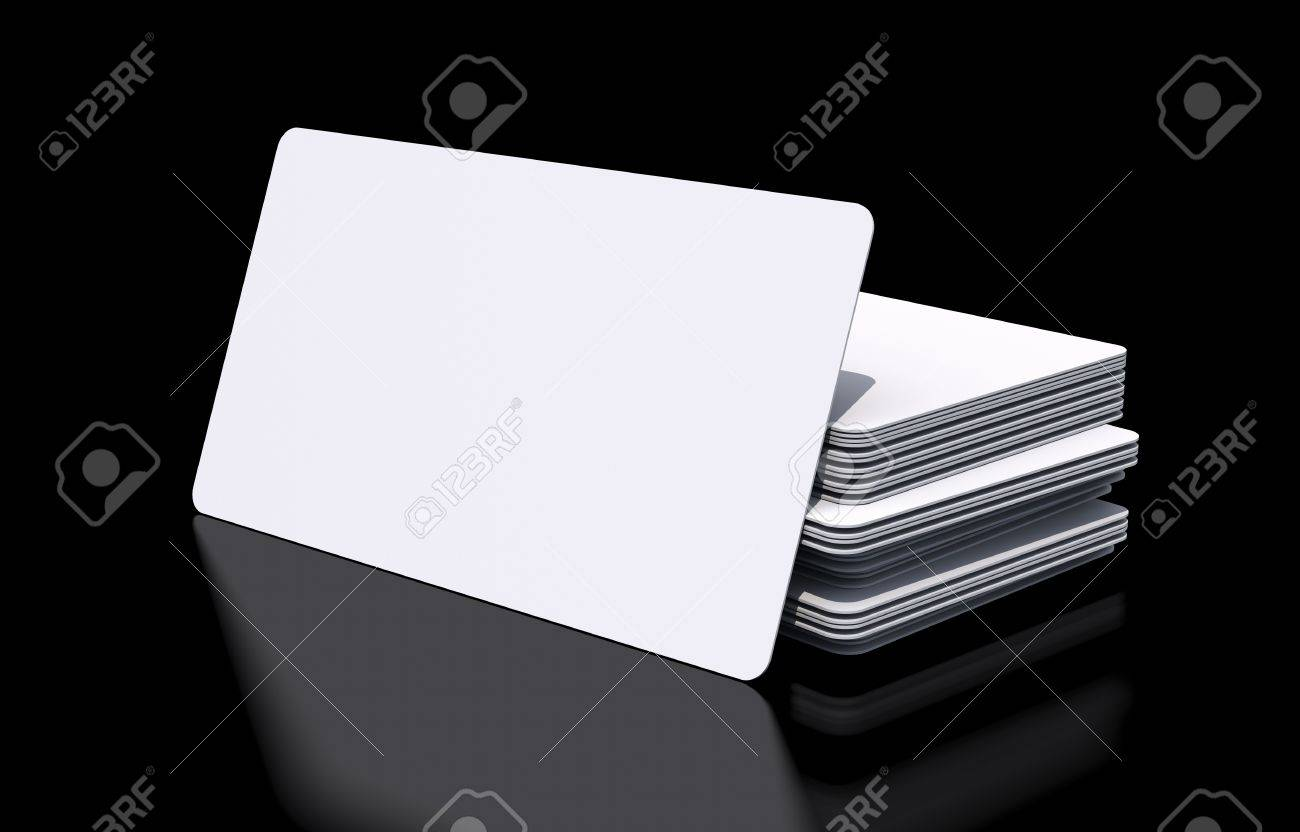 Mockup of blank white rounded corners business cards on black mockup of blank white rounded corners business cards on black glossy background stock photo magicingreecefo Image collections