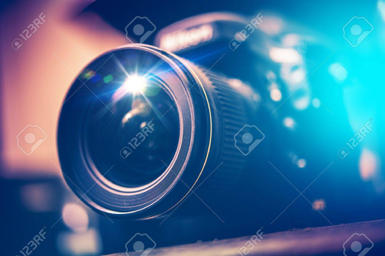 Digital SLR Camera with Wide Angle Lens - 32720543