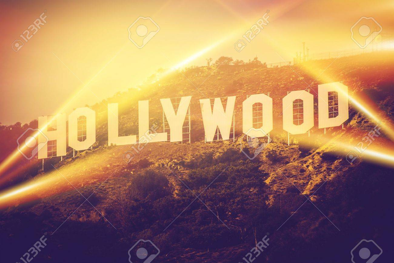 Hollywood California USA World Famous Sign Concept Stock Photo