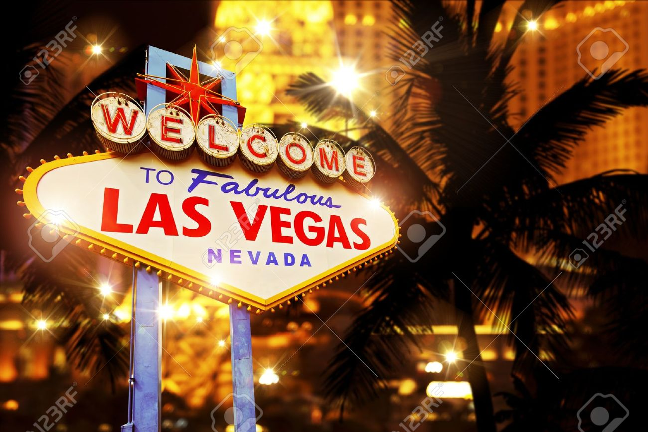 Stock footage welcome to fabulous las vegas sign with flashing lights - Vegas Hot Night In Las Vegas Vegas Heat Concept Image With Las Vegas Welcome