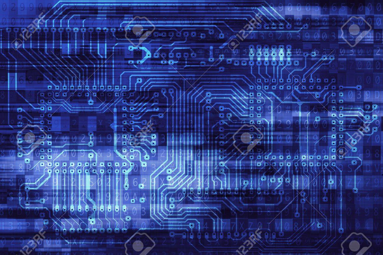 Electronic Data Safety Concept Background Illustration With Circuit ...
