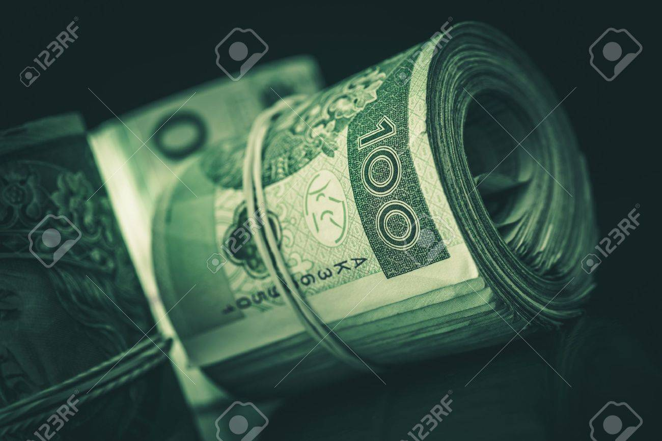 Rolled Cash Polish Zloty Closeup Photo. Stock Photo, Picture And ...