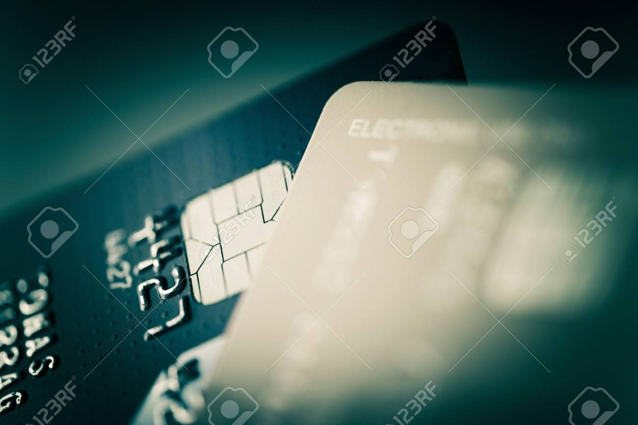 Credit Cards Closeup Photo. Financial and Banking Concept - 54031656
