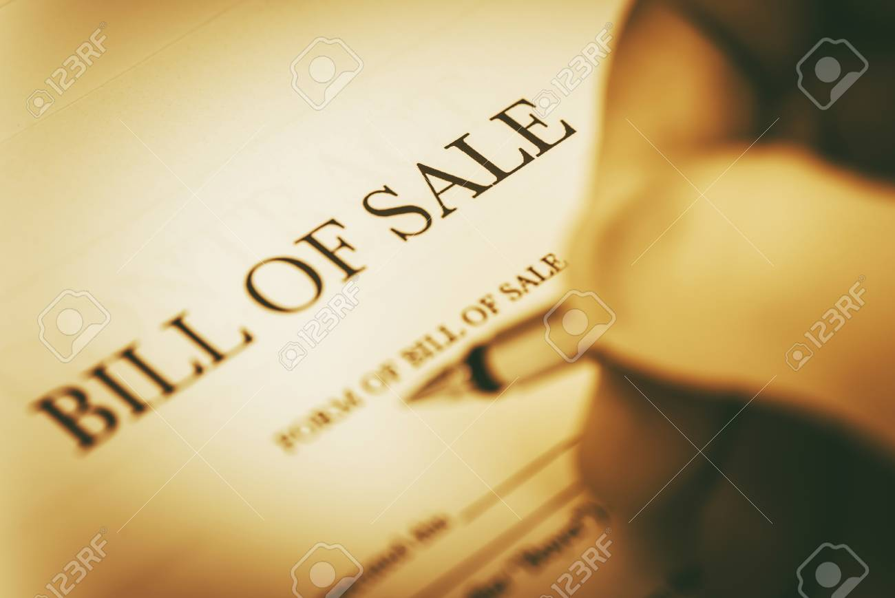 bill of sale legal document signing concept stock photo picture