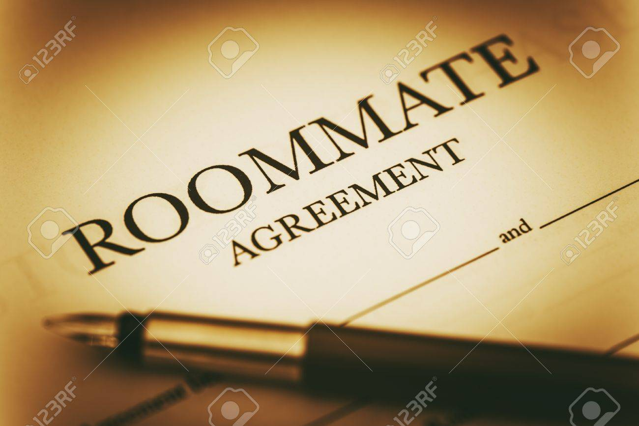 Roommate Agreement Signing Sharing Living Space Legal Agreement
