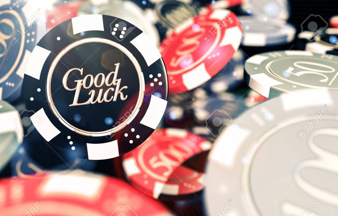 Good Luck Casino Chips Concept 3D Illustration. Casino Gambling.. Stock  Photo, Picture And Royalty Free Image. Image 66141571.