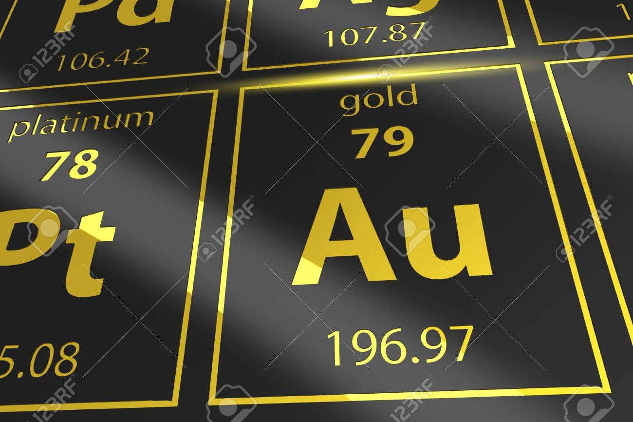 Periodic table golden au mendeleev table closeup on gold stock periodic table golden au mendeleev table closeup on gold stock photo 68876259 urtaz