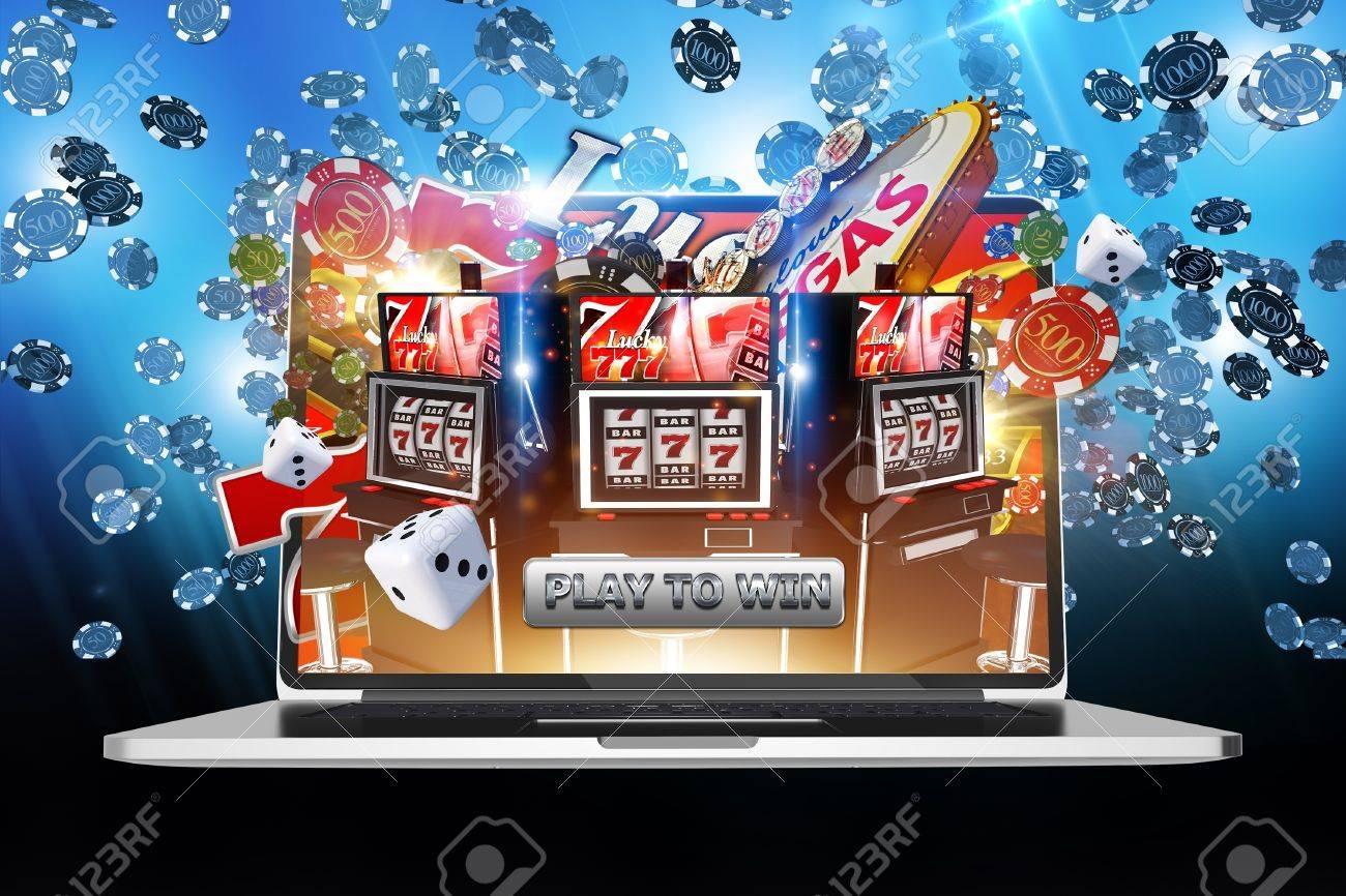 Juegos De Dinero En Linea Internet Online Casino Ilustracion Del