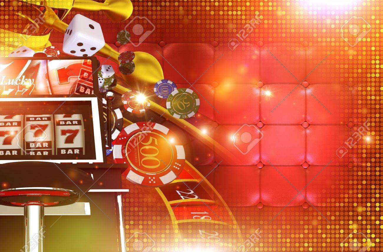 우측 복사 공간 카지노 도박 배경입니다. 3D 카지노 게임 요소를 렌더링합니다. 라스 베이거스 도박 개념 배경 화면 그림입니다. 로열티  무료 사진, 그림, 이미지 그리고 스톡포토그래피. Image 69911903.