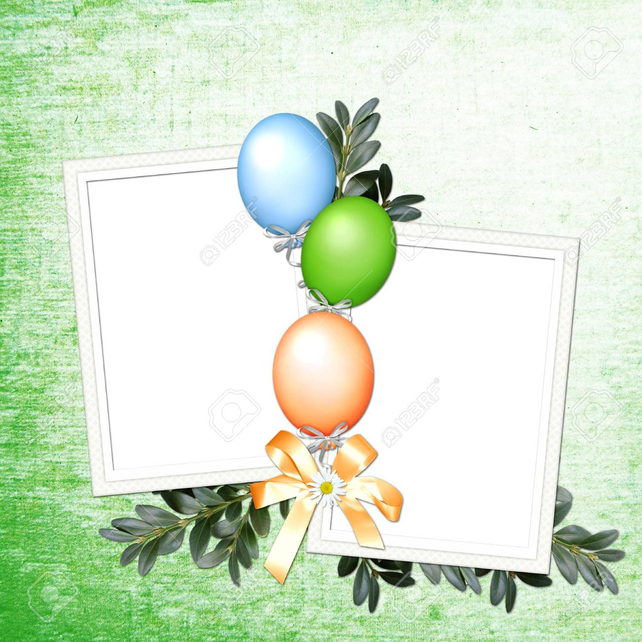 green background with balloons Stock Photo - 6359956