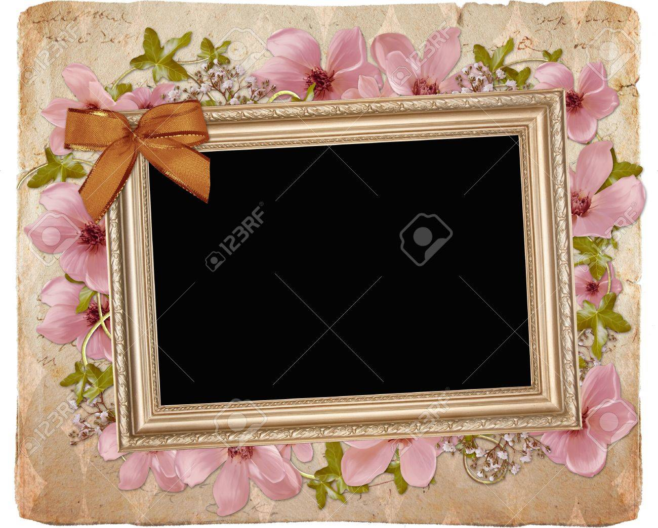 Framework for invitation or congratulation. Stock Photo - 9601369