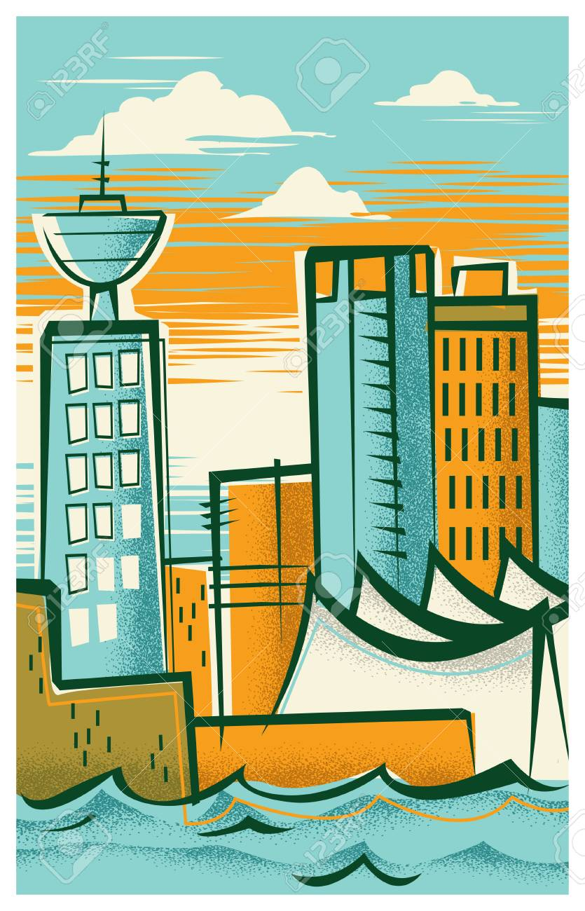 Vintage Travel Poster Of Vancouver Royalty Free Cliparts Vectors And Stock Illustration Image 114221336