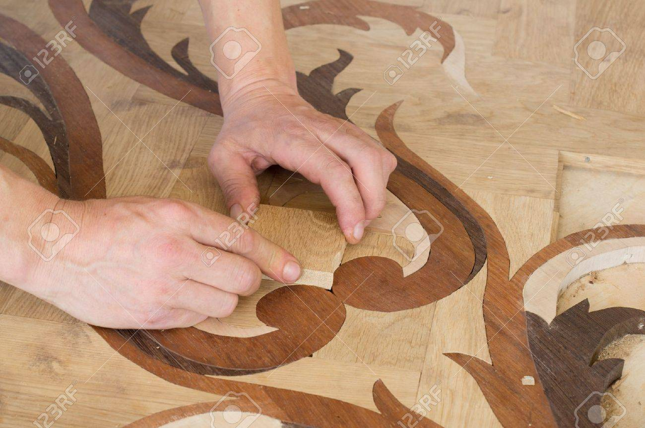 artistic parquet laying Stock Photo - 14505646