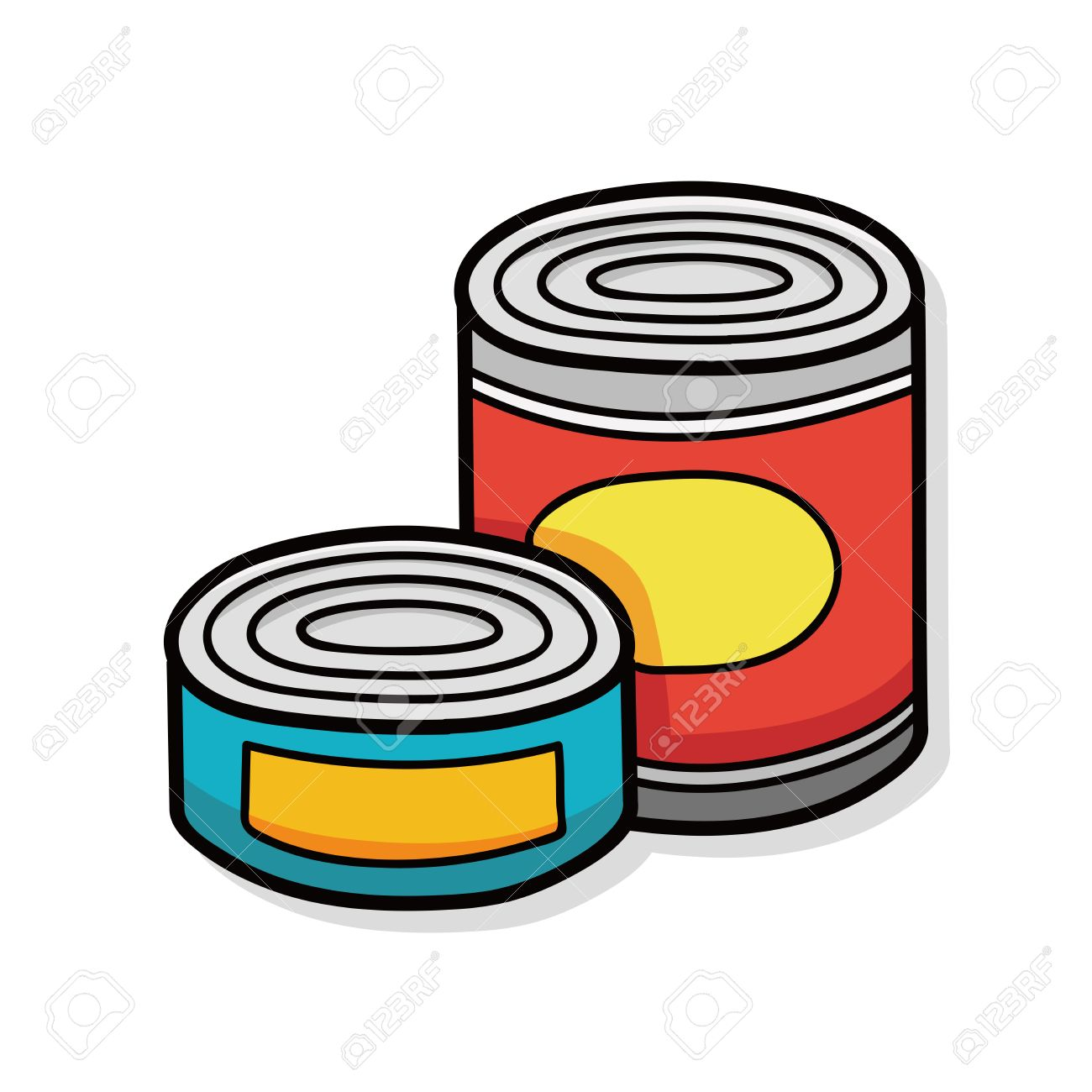 canned food doodle royalty free cliparts vectors and stock rh 123rf com free clipart canned food canned foods clipart graphics gifs