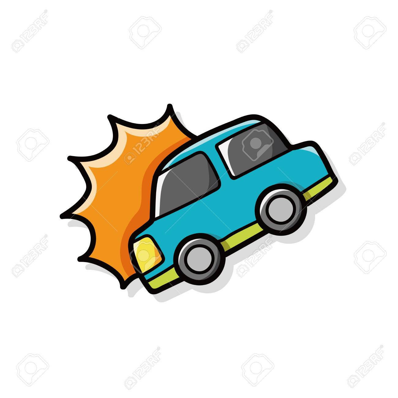 car accident doodle royalty free cliparts vectors and stock rh 123rf com car accident clipart pictures car accident clipart pictures