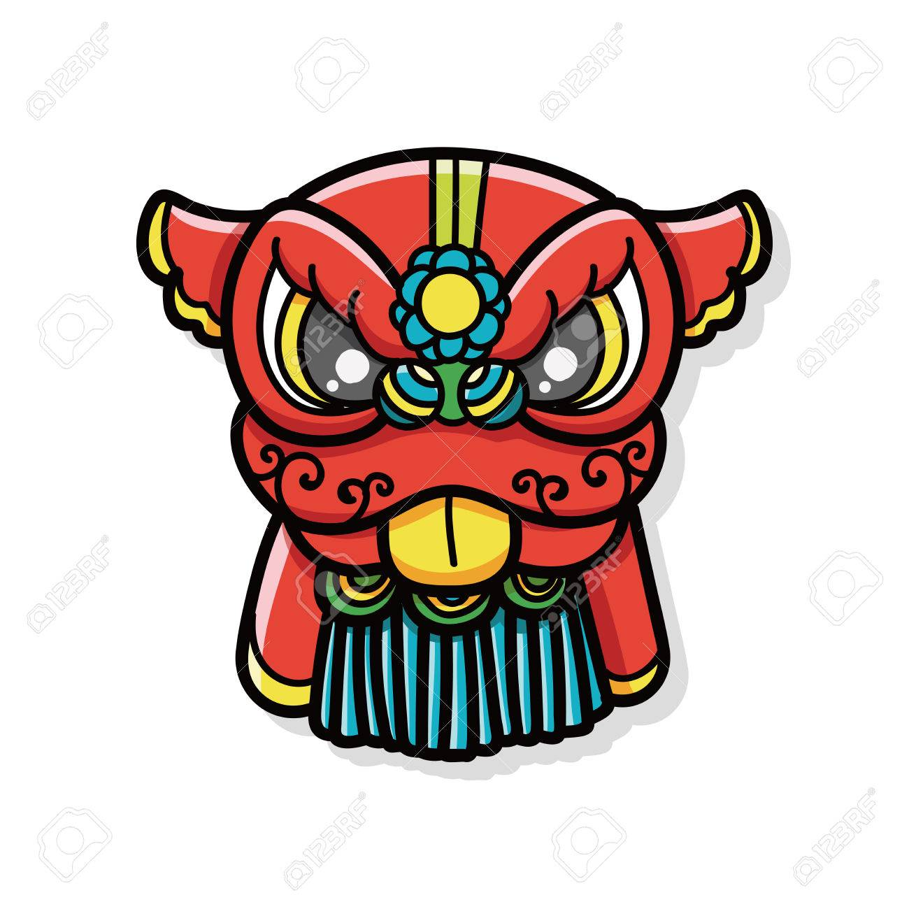 Uncategorized Chinese New Year Lion chinese new year dragon and lion dancing head doodle royalty free stock vector 45907446
