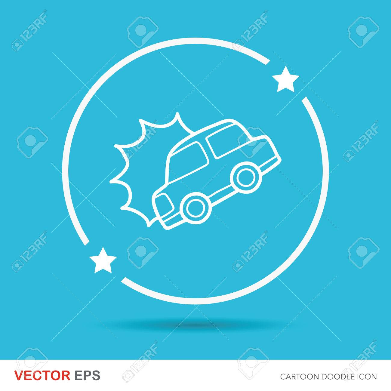 Car Accident Doodle Royalty Free Cliparts, Vectors, And Stock ...