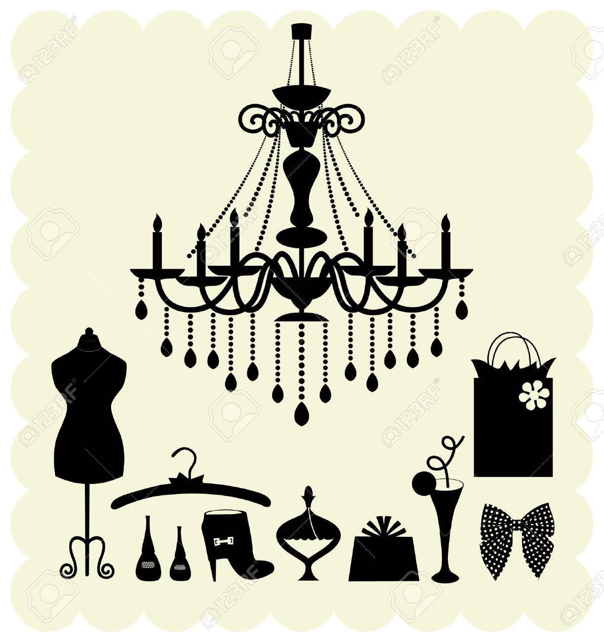 girl fashion set Stock Vector - 3966919