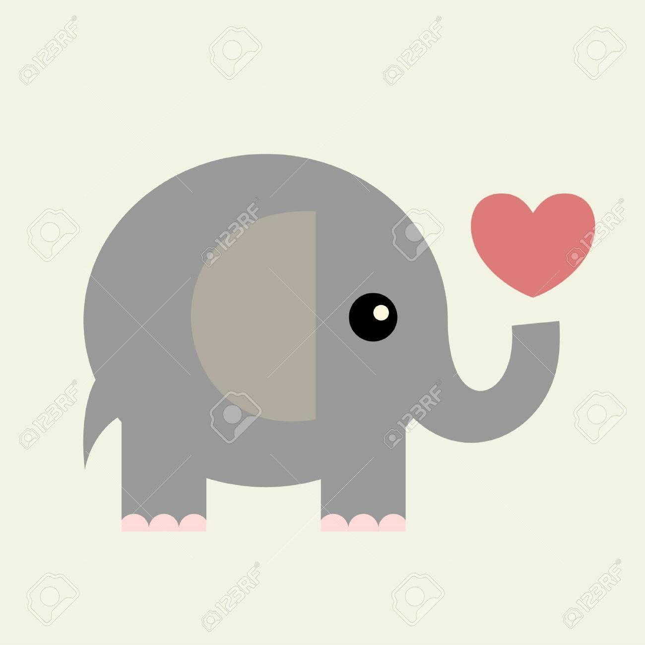 vector valentine cardelephant stock vector 4309386 - Elephant Valentine
