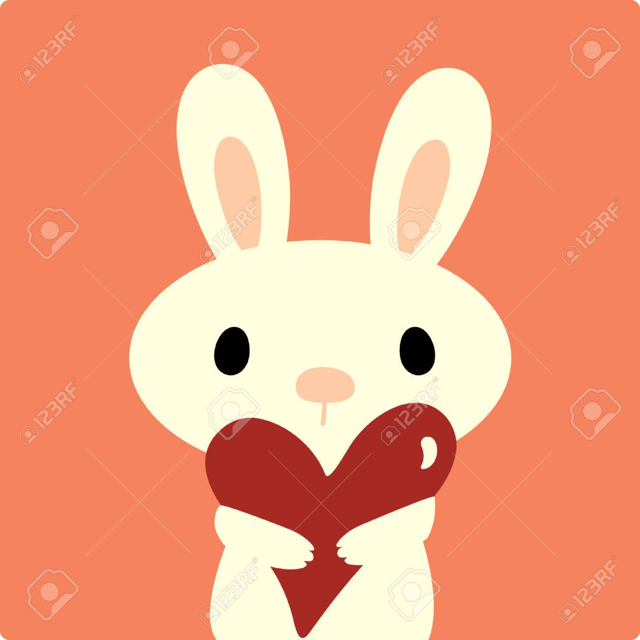 vector rabbit with love Stock Vector - 4309376