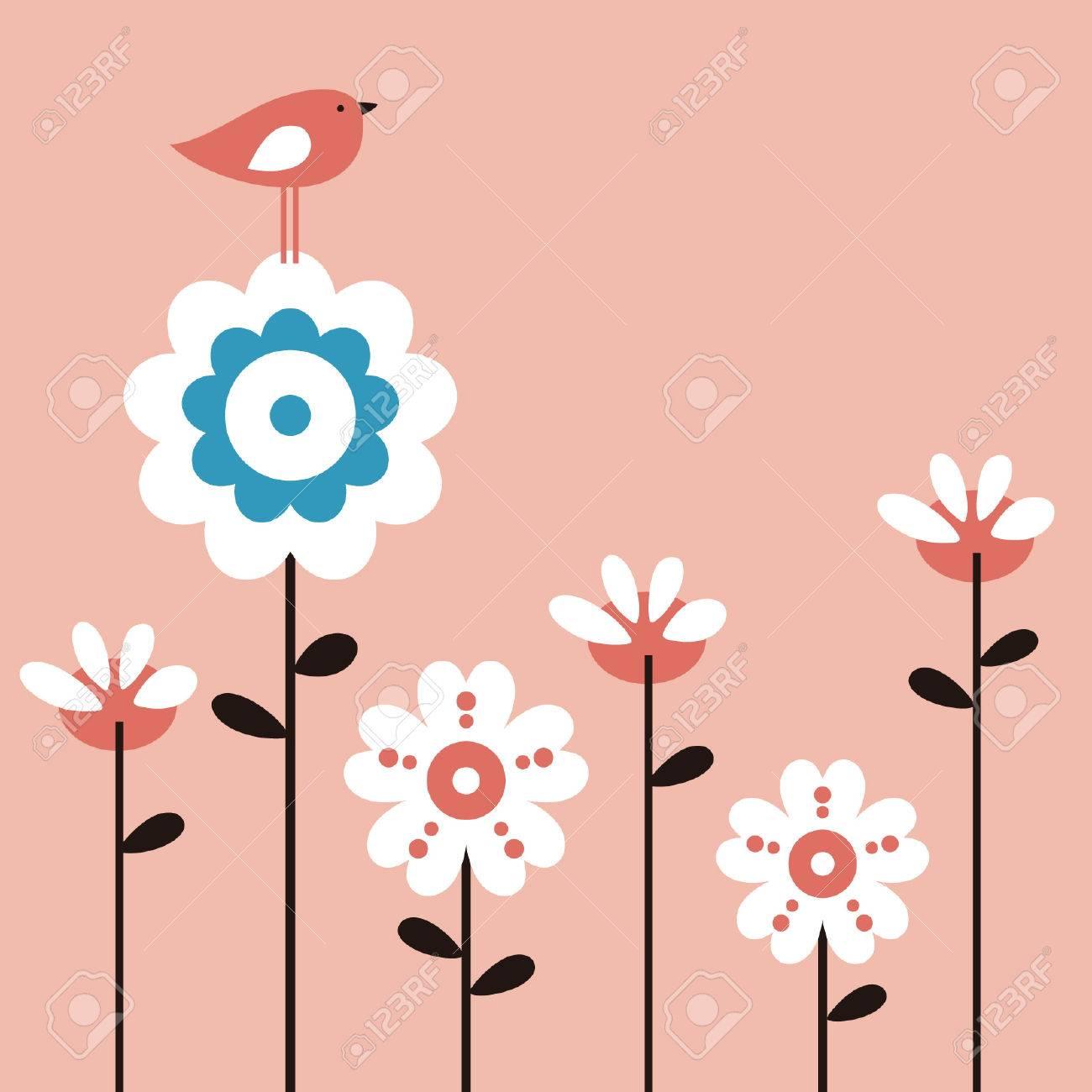 vector flower and bird Stock Vector - 4788004