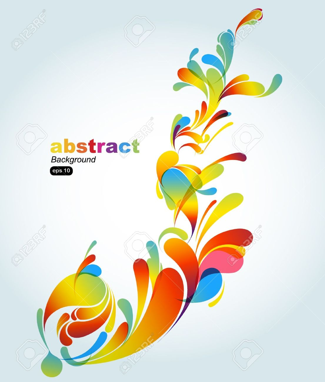 Colorful abstract design background vector art free vector - Abstract Colorful Background Stock Vector 7904670