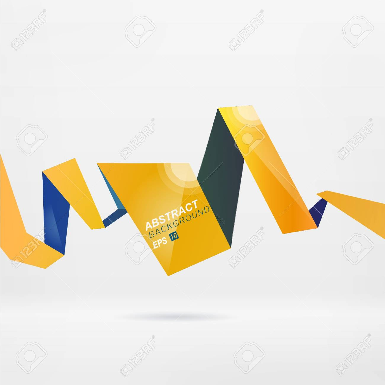 Modern vector origami background for you presentation Stock Vector - 9088173