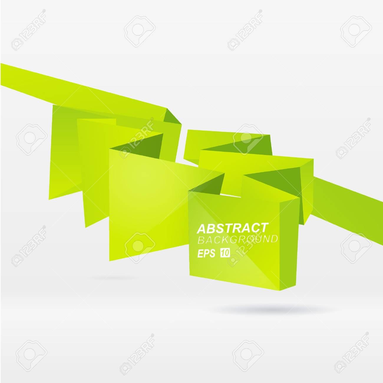 Abstract origami speech bubble vector background Stock Vector - 9088176